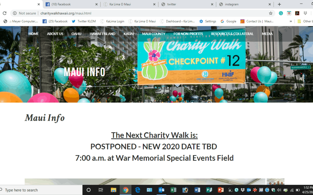 The Next Charity Walk is: POSTPONED – NEW 2020 DATE TBD
